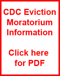 CDC Eviction Moratorium Information Click here for PDF